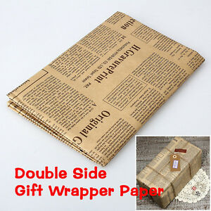 Wrapping Paper Wrap Gift Wrap Double Sided Christmas Kraft Paper Vinta YJUS