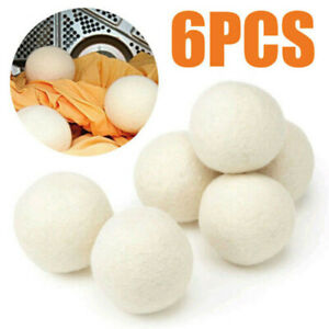 Wool Dryer Balls by Smart Sheep 6-Pack, XL Premium Reusable Natural Fabric US