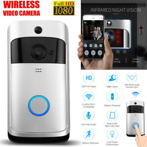 Two-Way Smart Wireless WiFi Doorbell Video HD Talk PIR Door Bell Security Camera