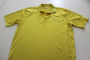Under Armour Yellow Embroidered Aliante Golf Club POLO SHIRT Large L $17.47