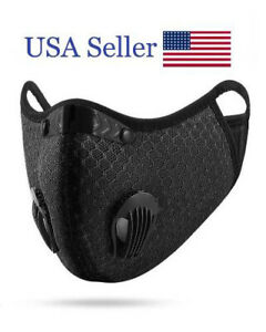 New Small Black Face Mask with Dual Valves and Two Activated Carbon Filters