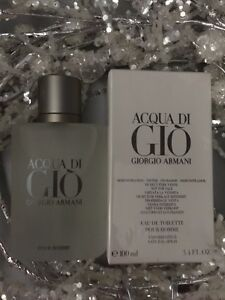 Acqua Di Gio 3.4 Oz. Men SPRAY EDT COLOGNE **NEW IN BOX** GIORGIO ARMANI $38.50