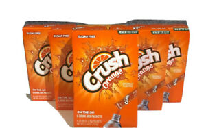 CRUSH ORANGE Drink Mix Singles to Go! (LOT OF 6) 36 Packets total, Sugar Free