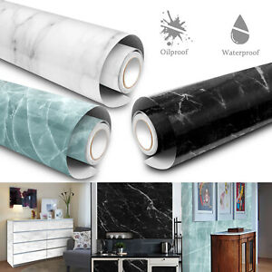 Kitchen Marble Wall Stickers Oil-Proof Waterproof Self Adhesive Wallpaper Decor