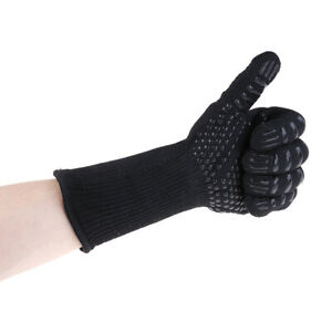 1pcs BBQ Gloves 300-500Centigrade Extreme Heat Resistant Safety Glo GwJ SE