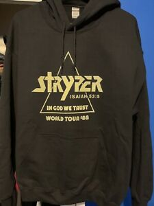 STRYPER hoodie L In God We Trust World Tour 1988 NEW michael sweet shirt kiss