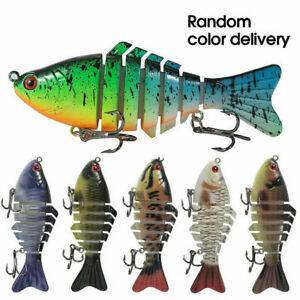 New 6 Segment Minnow Swimbait Lures Crank Baits Hard Bait Fishing Lures 1PCS