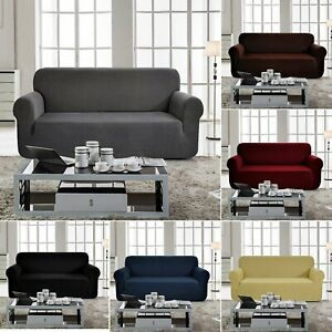 1 4 Seats Universal Sofa Cover Couch Fabric Slipcovers Elastic Strech Easy Fit