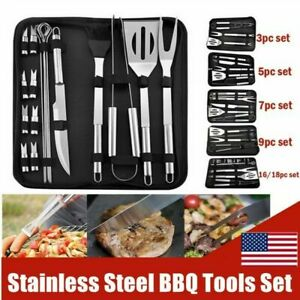 BBQ Tools Set Grilling Utensil Accessories Stainless Steel Camping Cooking DHL
