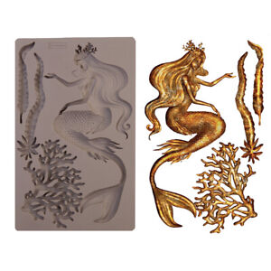 SEA MAVEN Mermaid RE-DESIGN Prima Decor Moulds Molds Food Safe Silicone #645533