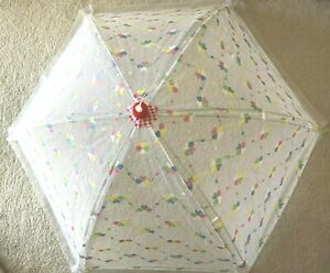 Out- & Indoor Food Cover EXTRA LARGE Dome Screen Tent, White Multi 39