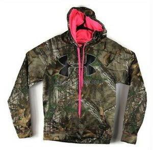 $125 Under Armour Women's Hoodie Realtree Camo with Hot Pink Size S $15.99