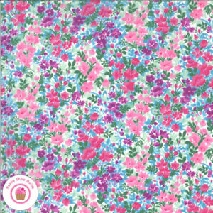 Moda REGENT ST LAWN 33475 14 Purple Floral SMOCKING Quilt Fabric Liberty $6.50