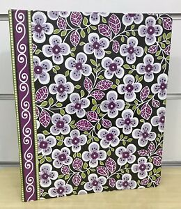 Vera Bradley Three Ring Binder in Plum Petals with Dividers and Labels