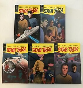 Star Trek Gold Key Archives Volume 1 5 Hardcover Lot Complete Run