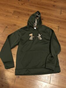 Under Armour Men's Large Storm Realtree Pullover Hoodie Sweatshirt Camo Green $30.00