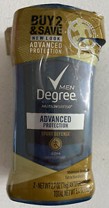 2 Pack Degree Men 48H Deodorant Advanced Protection Sport Defense 2.7 oz each $9.69