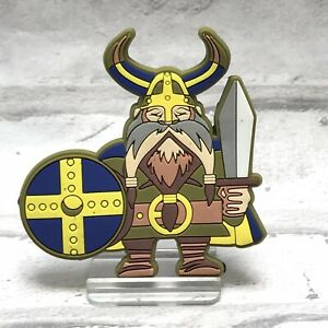 Norwegian Kitchen Refrigerator 3 Magnet Viking Beard Helmet Horn Sword Shield