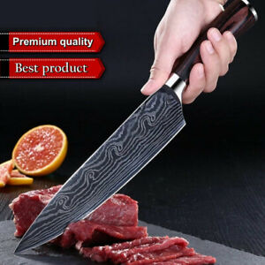 Kitchen Knife Chef Knives 8' Damascus Style Carbon Stainless Steel Cutting Knife