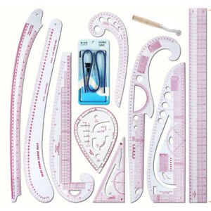 Plastic French Straight Curve Stick Pattern Design DIY Sewing Ruler Tailor Set $24.99
