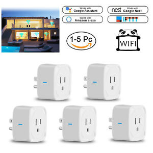 WiFi Smart Plug Switch Wall Outlet Adapter Socket For Android & IOS Amazon Alexa