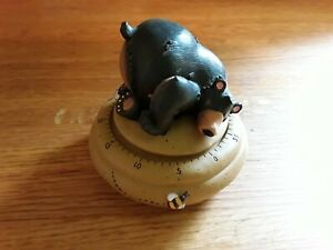 Sleepy Bear 60 Minute Mechanical Kitchen Timer Nap Time Quiet Time Kids Rustic