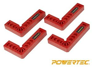 POWERTEC 90 Degree Positioning Squares 3quot; 4pcs Assembly Square for Woodworking $9.99