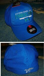NEW UNDER ARMOUR CYPRESS POINT GOLF CLUB Logo Fitted Stretch Cap Hat Blue SM MD $59.99