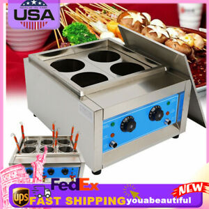 Commercial 4/6 Basket Electric Noodle Cooking Machine Pasta Cooker 4KW / 6KW NEW