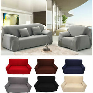 US Stretch Slipcover Loveseat Sofa Couch Protect Elastic Cover 1 2 3 4 Seater