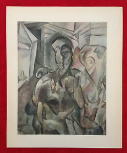 PABLO PICASSO FIGURE 1910 OFFSET LITHOGRAPH 1946PLATE-SIGNED $25.00