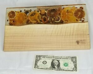 Wow! Hard Wood And Epoxy Resin handmade Serving Board 13