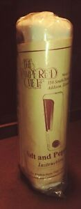 NEW *SEALED* PAMPERED CHEF Salt & Pepper Mill #2190 Retired Grinder White 6.5