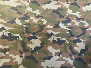 New 100% Cotton Army Camouflage Camo Print Fabric Sold By The Yard 1 2 Yard