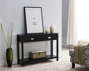 Kings Brand Furniture Black Wood Occasional Entryway Console Sofa Table