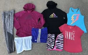 Girls Adidas Under Armour Nike Hoodie Shorts Shirt Lot L XL 14 16 $59.99