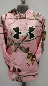New Under Armour Pink Camo Hoodie Women's Size L MSRP $74.99 $29.99