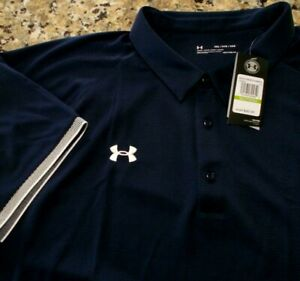 Under Armour Men's 5xl Blue Navy White Shirt Polo Golf Embroidered NWT 76208899 $35.17
