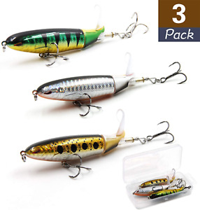 Fishing Lures 4quot; 0.5 oz with Rotating Spins Tail Topwater Bait Freshwater Lures