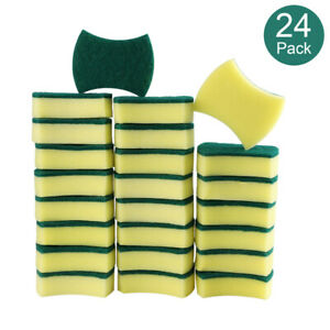 Kitchen Cleaning Sponges,Eco Non-Scratch for Dish,Scrub Sponges(Pack of 6-24)