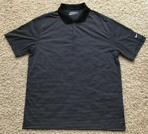 Men's Nike Dri Fit Tour Performance Polo Golf Short Sleeve Shirt Sz Large Black $19.99