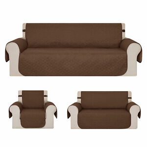 Deconovo 1/2/3 Seat Sofa Cover Couch Slipcover Pet Dog Mat Furniture Protector