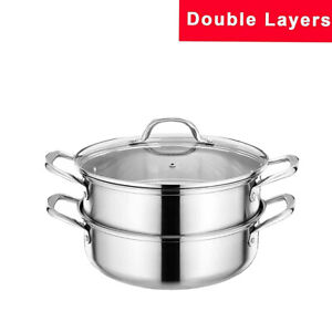 BOMA Kitchen Cookware Double layer Stainless Steel 3-Piece Pasta/Steamer Set Pot