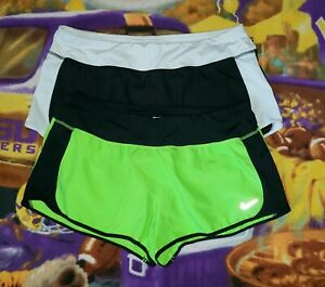 Women's Lot of 2 Nike Dri Fit Lined Athletic Running Shorts Sz XL $19.50