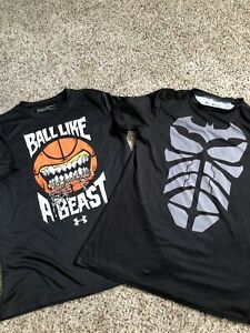 Under Armour Boy Lot of 2 Shirts Size XL $2.40