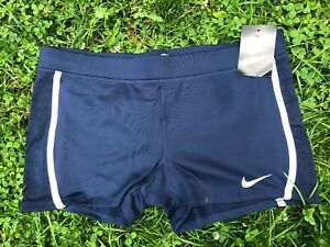 Nike Tempo Boy Short Womens Blue & White Running Shorts sz S All Tags! $16.99