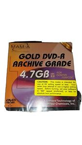 Lot of 4 MAM A 4.7GB Gold Archive DVD R Disks. NEW UNUSED. Individual case.