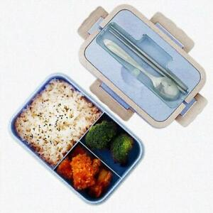 Lunch Box Portable Bento Box Food Storage Container Microwave Spoon Chopsticks