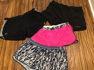 Lot Of 3 Running Shorts Under Armour Size XL + A Pair Of Brooks Shorts $30.00