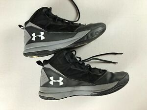 Under Armour Shoes Youth SZ 6.5 Basketball Black Gray Boys Men Athletic Kids $25.54